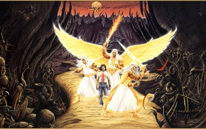 Picture road, picture, angels, Rodney Matthews