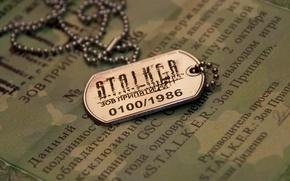 Wallpaper call of pripyat, Stalker, badge, Stalker