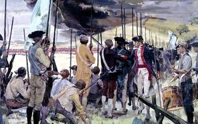 """Picture oil, picture, Boston, Massachusetts, host, Bunker Hill, """"The battle of bunker hill"""", June 17, 1775"""