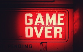 Picture desktop, wallpaper, red, game over, game, computer, loading, player