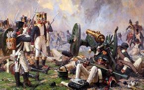 Picture soldier, canon, war, uniform, Averyanov Alexander, Artillerie, courage, Napoleon