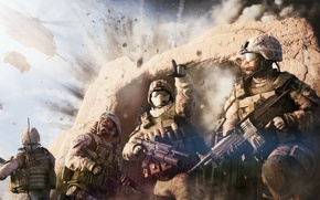 Wallpaper war, Operation Flashpoint: Red River, soldiers, the explosion