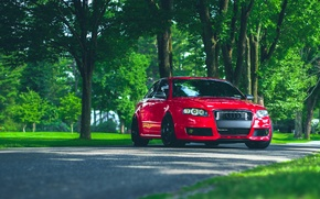 Picture Audi, Audi, red, front, stance, RS4