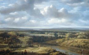 Picture nature, picture, River Landscape, Koninck Philips