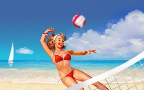 Picture mood, Volleyball, Pin-Up