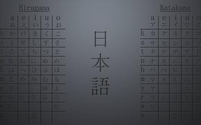 Picture Japan, characters, hiragana, ABC, katakana