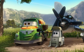 Picture landscape, mountains, machine, cartoon, wings, adventure, Cars, rally, wings, Cars, Walt Disney, animation, action, Walt …