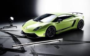 Wallpaper Lamborghini, LP 570-4, light, Gallardo
