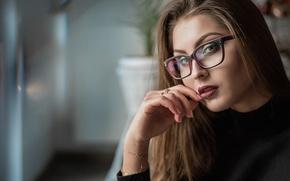 Picture look, girl, portrait, glasses