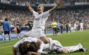 Wallpaper joy, victory, Cannavaro, real madrid, goal, real Madrid, stadium