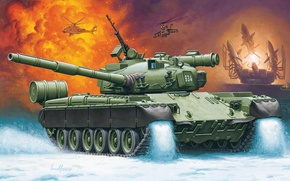 Picture figure, Russia, Enzo Maio, main battle tank, MBT, T-80