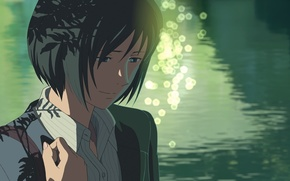 Picture Girl, Look, Lake, Girl, Anime, Makoto Xingkai, Anime, The Garden Of Words, Makoto Shinkai, Kotonoha …