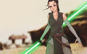 Picture girl, fiction, star wars, Ray, Jedi, Star Wars: The Force Awakens, Star wars: the force …
