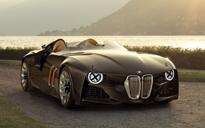 Picture road, river, shore, BMW, BMW, Hommage, 328