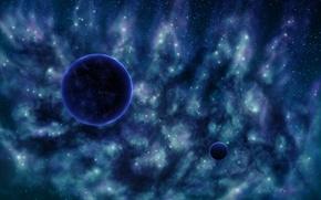 Picture stars, nebula, the universe, planet