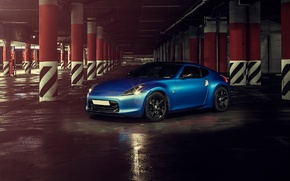 Picture car, blue, rechange, hq Wallpapers, nissan 370z