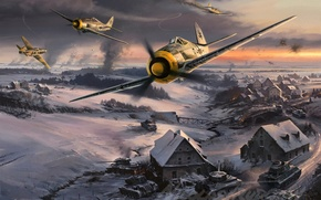 Wallpaper the Focke-Wulf, Fw-190, Focke, Wulf