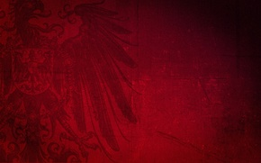 Wallpaper red, eagle, different
