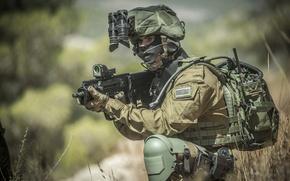 Picture background, soldiers, machine, equipment