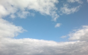 Picture the sky, clouds, blue