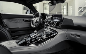 Picture silver, salon, mercedes benz, coupe, 2015, amg gt
