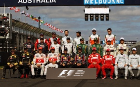 Picture formula 1, Formula 1, 2011, racers, the pilots of F1