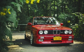 Picture BMW, BMW, before, red, red, tuning, e30