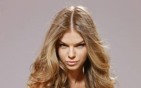 Wallpaper look, face, background, model, closeup, Inga C