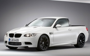 Picture BMW, White, Pickup