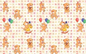 Picture background, texture, art, bear, children's