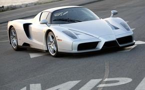 Picture Ferrari, silver, supercar, Enzo