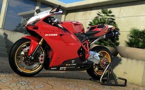 Picture graphics, art, motorcycle, Ducati, dangeruss, 1098