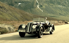 Wallpaper road, mountains, bmw, old, rarity, 328