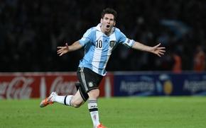 Picture football, Argentina, goal, football, Lionel Messi, Leopard, team, Messi, Striker, LEO
