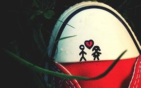 Picture love, mood, romance, heart, love, heart, mood, romance, shoe, shoes, a picture of a boy …
