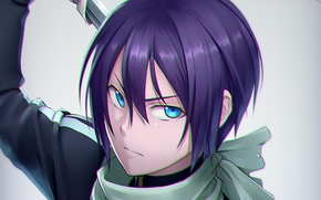 Picture look, anime, art, guy, Noragami, A homeless God, Yato