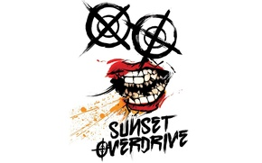 Picture logo, Xbox One, Sunset Overdrive, Insomniac Games