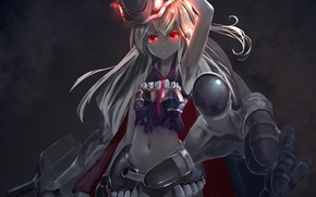 Wallpaper girl, weapons, magic, anime, art, kouji, kantai collection, astral reverie, destroyer water oni