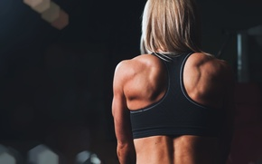 Picture fitness, training, sportswear, back muscles