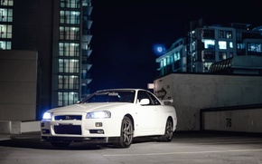 Picture Nissan, GT-R, Night, Skyline, R34, V-Spec