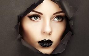 Picture girl, face, portrait, makeup