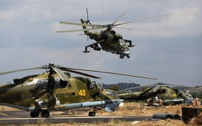 Picture helicopters, Syria, Mi-24P
