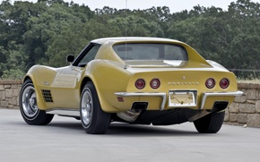 Picture car, machine, Corvette, Chevrolet, Chevrolet, retro, 1970, back, Stingray