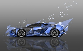Picture Abstract, Blue, Supercar, Fragments, Color, Blue, Supercar, Lamborghini, Art, Colors, Hybrid, Abstract, Design, Style, Lamborghini, ...