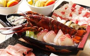 Wallpaper fish, Omar, seafood