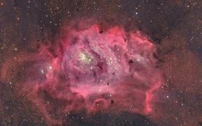 Picture space, stars, Laguna, Nebula, in the constellation Sagittarius, interstellar cloud