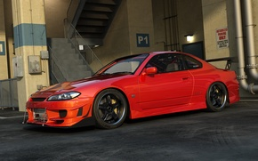 Picture tuning, car, s15, Nissan Silvia, Parking, nissan silvia