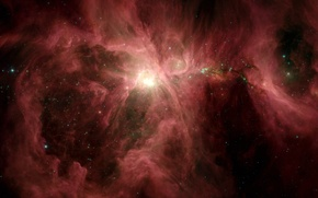 Wallpaper nebula, Orion, Spitzer
