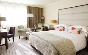 Picture design, style, table, room, bed, interior, chair, pillow, vase, fruit, bedroom