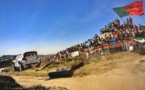 Picture Auto, White, Sport, Volkswagen, Machine, Speed, People, Portugal, Heat, Red Bull, WRC, Rally, Rally, 2013, ...